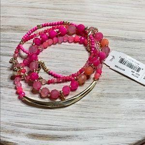 Kendra Scott Supak Pink Beaded Bracelet Set